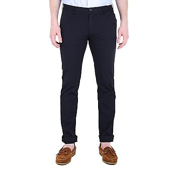 BOSS Casual Slim Fit donkere Marine Rice3-D Chinos
