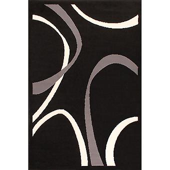 Curve Rugs In Black By Rugstyle