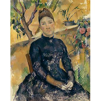 Madame Cezanne,Paul Cezanne,36x28cm