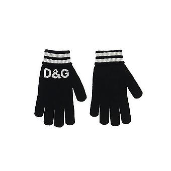 Dolce E Gabbana guantes de lana negra