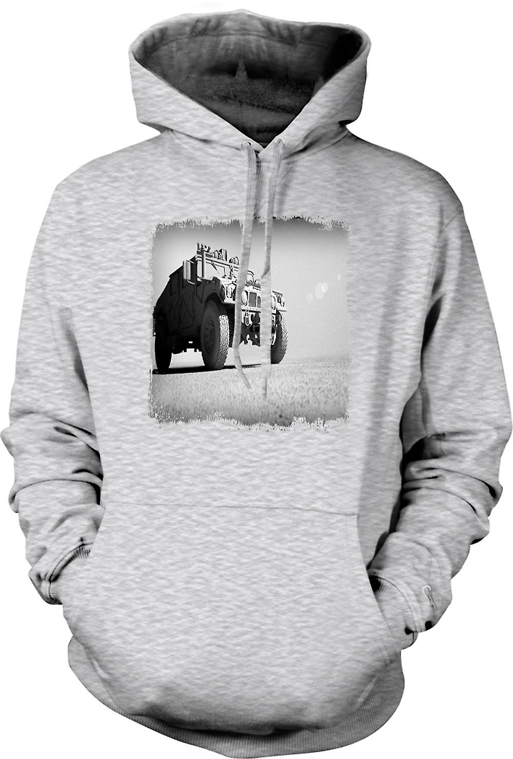 Mens-Hoodie - US Army Humvee - Desert Warrior