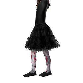 Girls Zombie Dirt Tights with Blood Splatter Halloween Accessory