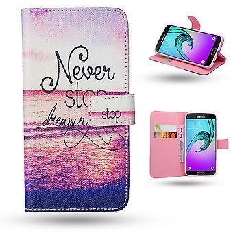 Samsung Galaxy A5 2016-cases/portefeuille cuir-jamais Stop Dream
