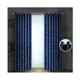 Star Blockout Curtains 3 Layers Eyelet 140X230Cm