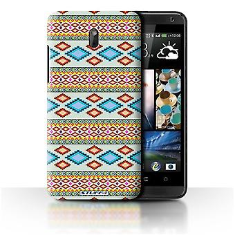 STUFF4 Case/Cover voor HTC Desire 609d/Blue/Red/Azteekse Tribal patroon