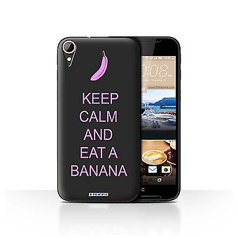 STUFF4 Case/Cover for HTC Desire 830/Eat a Banana/Pink/Keep Calm
