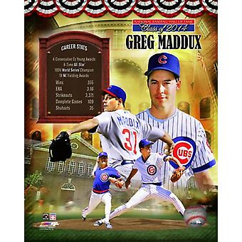 Greg Maddux MLB Hall of Fame Legends Composite Photo Print