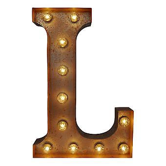 Large Vintage Letter Lights - L
