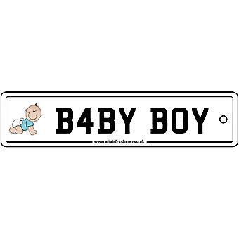 赤ちゃん男の子ナンバー プレート車空気清浄