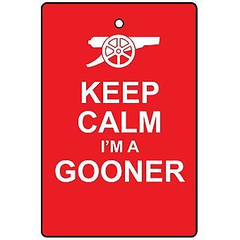 Храните спокойствие я Gooner автомобилей освежитель воздуха