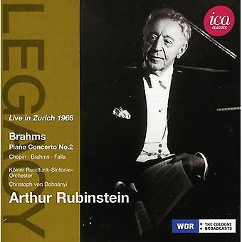 Brahms/Chopin/De Falla - Arthur Rubinstein bor i Zürich 1966 [CD] USA import