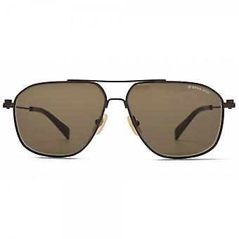 G-Star Raw Metal Erving Sunglasses In Semi Matte Brown