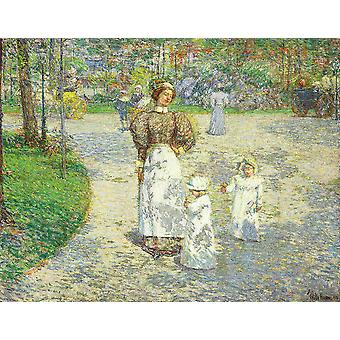Childe Hassam - Lente in Central Park (1908) Poster Print Giclee