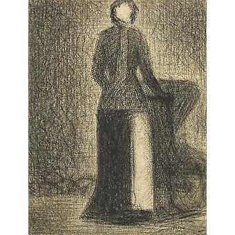 Georges Seurat - Nurse with a Child's Carriage Poster Print Giclee