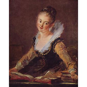 Jean Fragonard - Portrait of Woman Poster Print Giclee