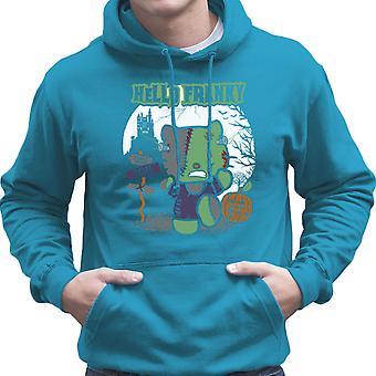 Hello Franky Kitty Frankenstein Men's Hooded Sweatshirt