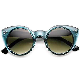 Womens Chic Round Circular Pointed Cat Eye Sunglasses
