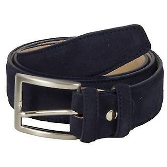40 Colori Trento Suede Leather Belt - Navy