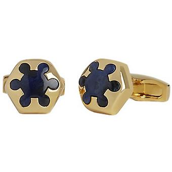Simon Carter Sodalite Radial Cufflinks - or/bleu