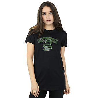 Harry Potter Women's Slytherin Sport Emblem Boyfriend Fit T-Shirt