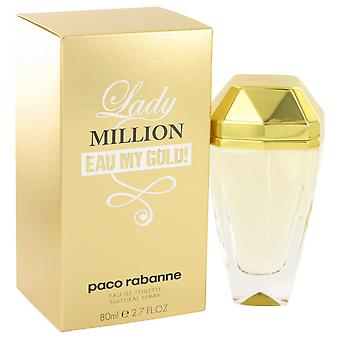 Paco Rabanne Lady Million Eau mit guld! Eau de Toilette 80ml EDT Spray