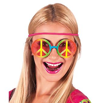 Boland BV Fancy Dress Accessory Bright Multi Coloured Hippie Style Party Glasses