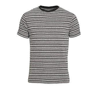BELLFIELD Elmswell Aztec Print T-Shirt | Black