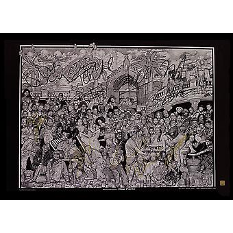 Rap Party by Howard Teman Signed Poster