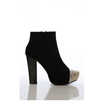 The Fashion Bible Gold Toe Boots In Black