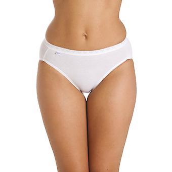 Camille Three Pack Cotton Rich Hi Leg Briefs In White