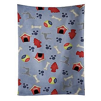Carolines Treasures  BB4097KTWL Dog House Collection Greyhound Kitchen Towel