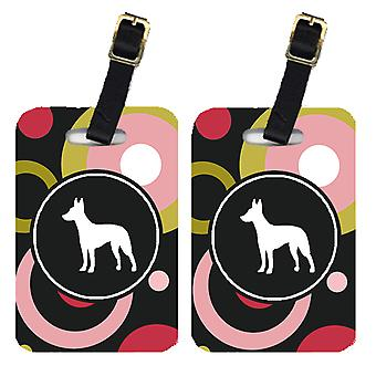 Carolines Treasures  KJ1045BT Pair of 2 Manchester Terrier Luggage Tags