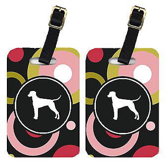 Carolines Treasures  KJ1127BT Pair of 2 Dalmatian Luggage Tags