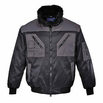 Portwest - Versatile All-Weather 4-In-1 Warm Fur Lined Two Tone Pilot Jacket