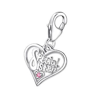 Heart - 925 Sterling Silver Charms with Lobster
