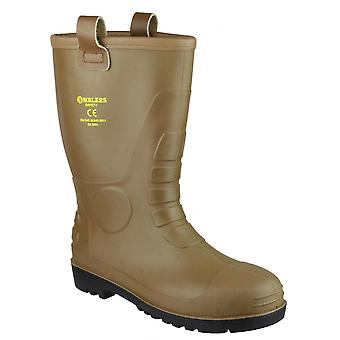 Footsure 95 Tan PVC Rigger Safety Wellingtons / Mens Safety Boots