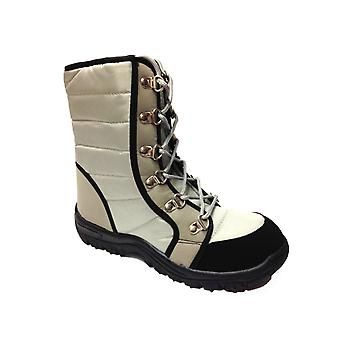 Ladies Womens Warm Fur Lined Lace Up Ankle Snow Winter Boots Shoes