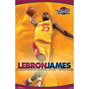 Cleveland Cavaliers - Lebron James - Yellow 2014 Poster Print