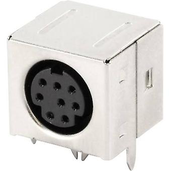 Mini DIN connector Socket, horizontal mount Number of pins: 8 Black econ connect MDIOB8G 1 pc(s)