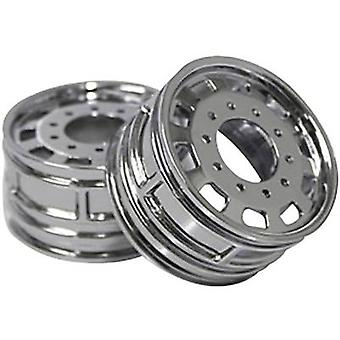 ScaleDrive 1:14 HGV Rims ABS plastic Euro look Chrome 1 pair