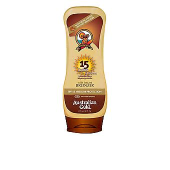 Australian Gold Sunscreen Spf15 Lotion With Bronzer 237ml New Unisex