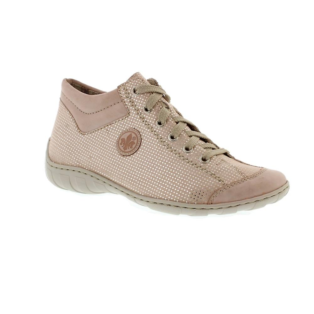 Rieker M3738 - 31 Rose/Nude (Pink) Womens Trainers
