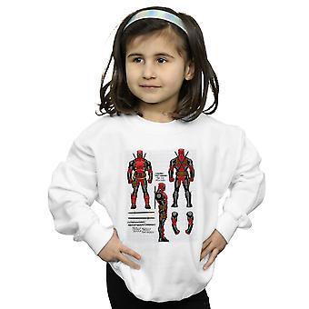 Marvel Mädchen Deadpool Action Figur Pläne Sweatshirt