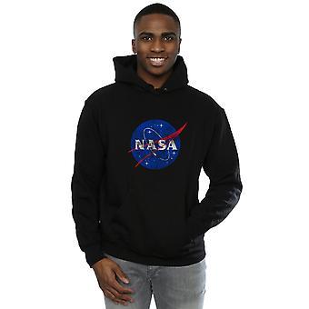 NASA Men's Classic Insignia Logo Distressed Hoodie
