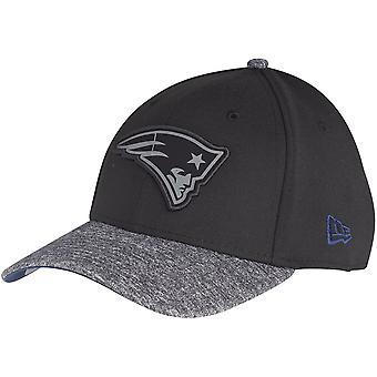 New Era 39Thirty Cap - GREY New England Patriots schwarz