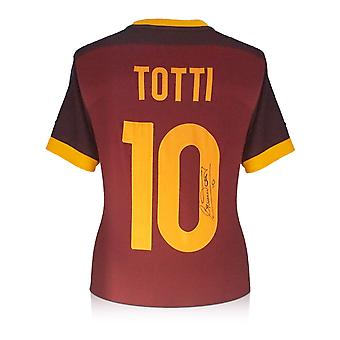 Francesco Totti Signed AS Roma 2015-16 Authentic Nike Home Shirt