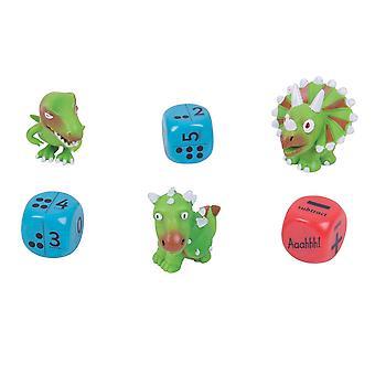 ZooBooKoo Dino Würfel Zahlen & Punkte - Ebene 1 - geistige Mathematik Spiele