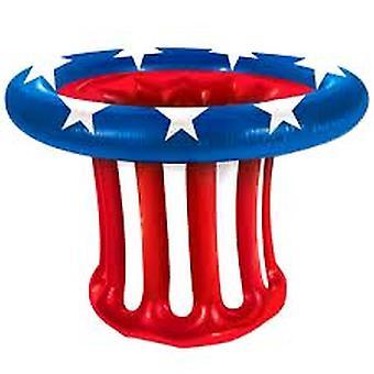 USA patriotiska hatt dricker kylare