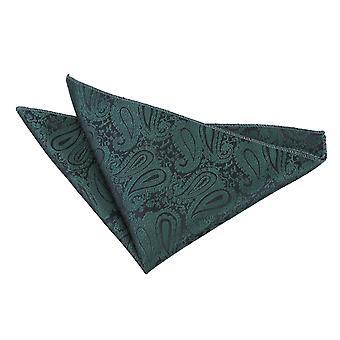 Emerald grøn Paisley Pocket Square