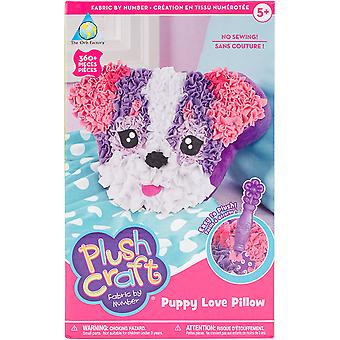 Plushcraft Fabric By Number Kit-Puppy Love Pillow
